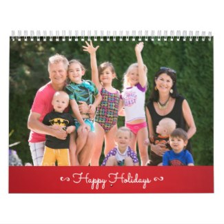 personalized calendar happy holidays