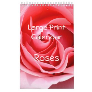 personalized calendar with roses