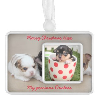 dog photo christmas ornaments