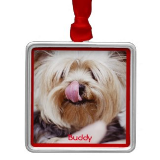 personalized dog christmas ornament