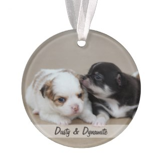 personalized dog christmas ornaments