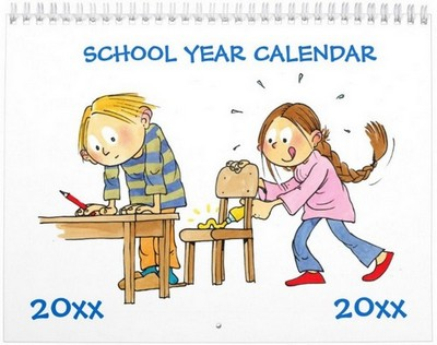 monthly school year calendars