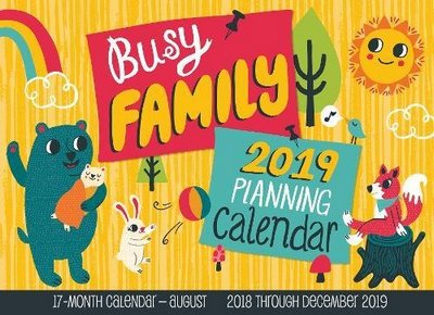 family calendar 2019 with 17 month