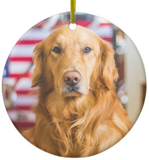 golden retriever christmas ornament add your photo