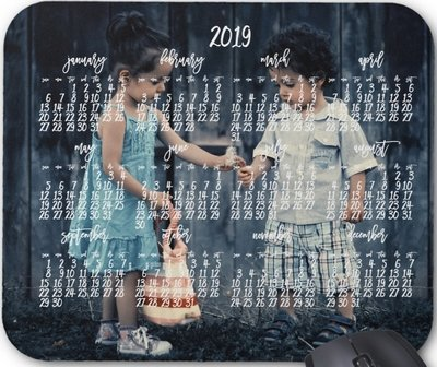 Personalized Mouse Pad Calendar 2019