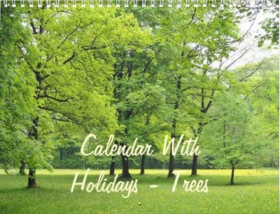 calendar with trees