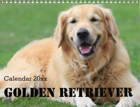 golden retriever calendar personalize it