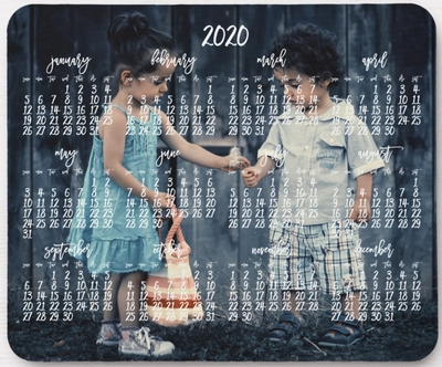 personalized mouse pad calendar 2020